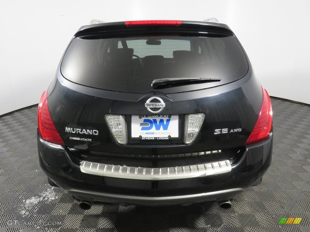 2007 Murano SE AWD - Super Black / Charcoal photo #15