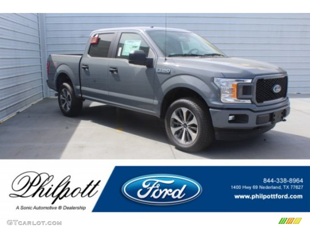2019 F150 STX SuperCrew - Magnetic / Black photo #1