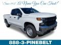 2019 Summit White Chevrolet Silverado 1500 WT Double Cab  photo #1