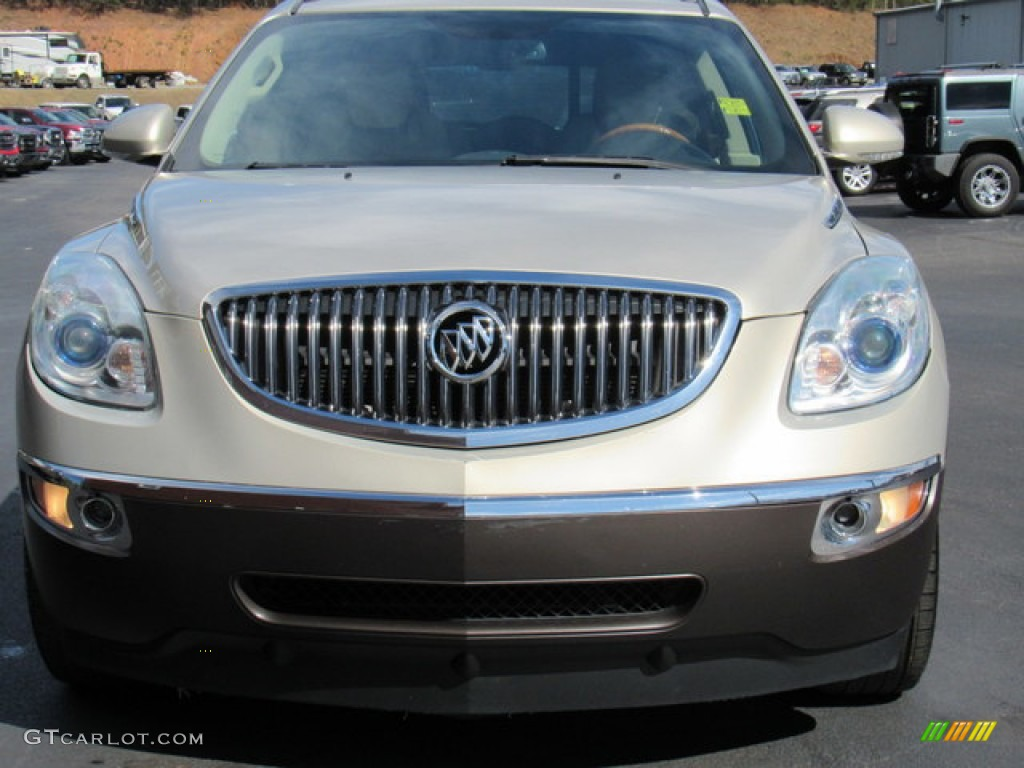 2011 Enclave CXL - Gold Mist Metallic / Cashmere/Cocoa photo #8
