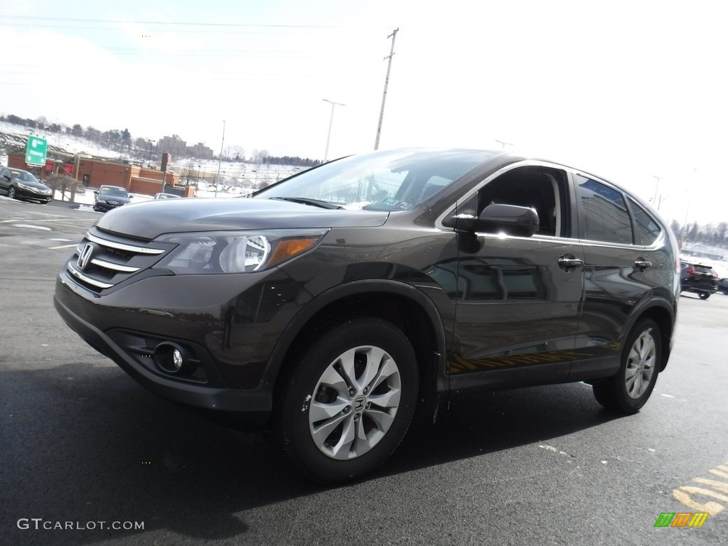 2013 CR-V EX AWD - Kona Coffee Metallic / Black photo #5