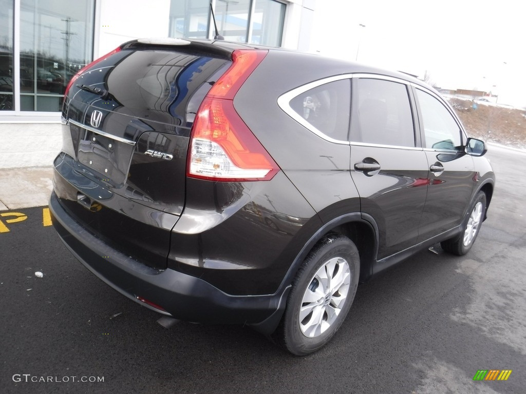 2013 CR-V EX AWD - Kona Coffee Metallic / Black photo #9