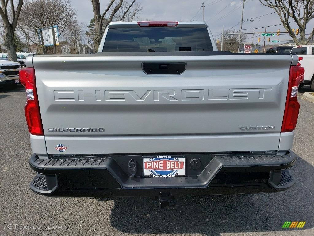 2019 Silverado 1500 Custom Z71 Trail Boss Double Cab 4WD - Silver Ice Metallic / Jet Black photo #5