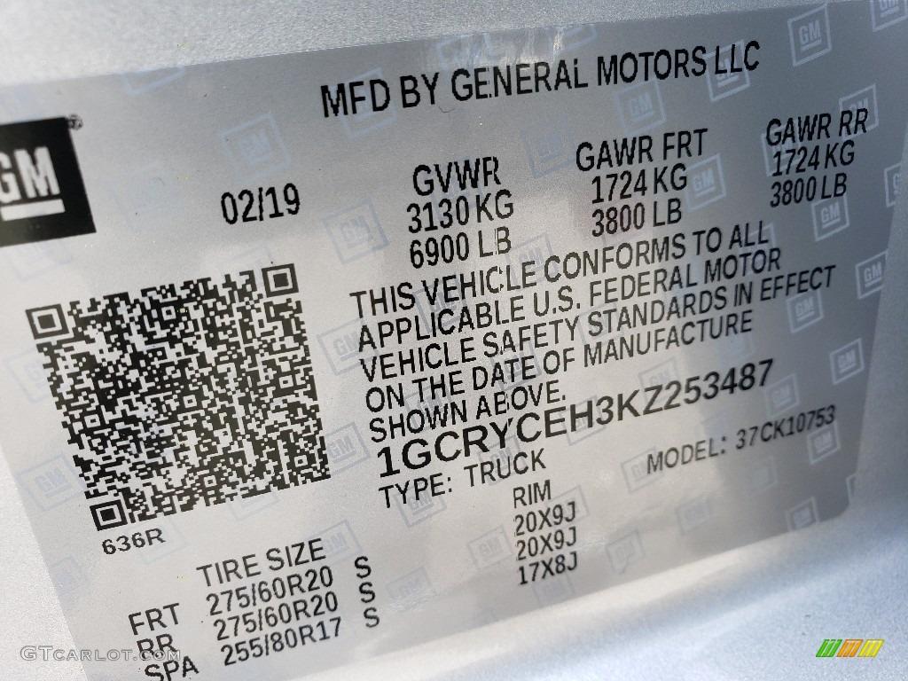 2019 Silverado 1500 Custom Z71 Trail Boss Double Cab 4WD - Silver Ice Metallic / Jet Black photo #9