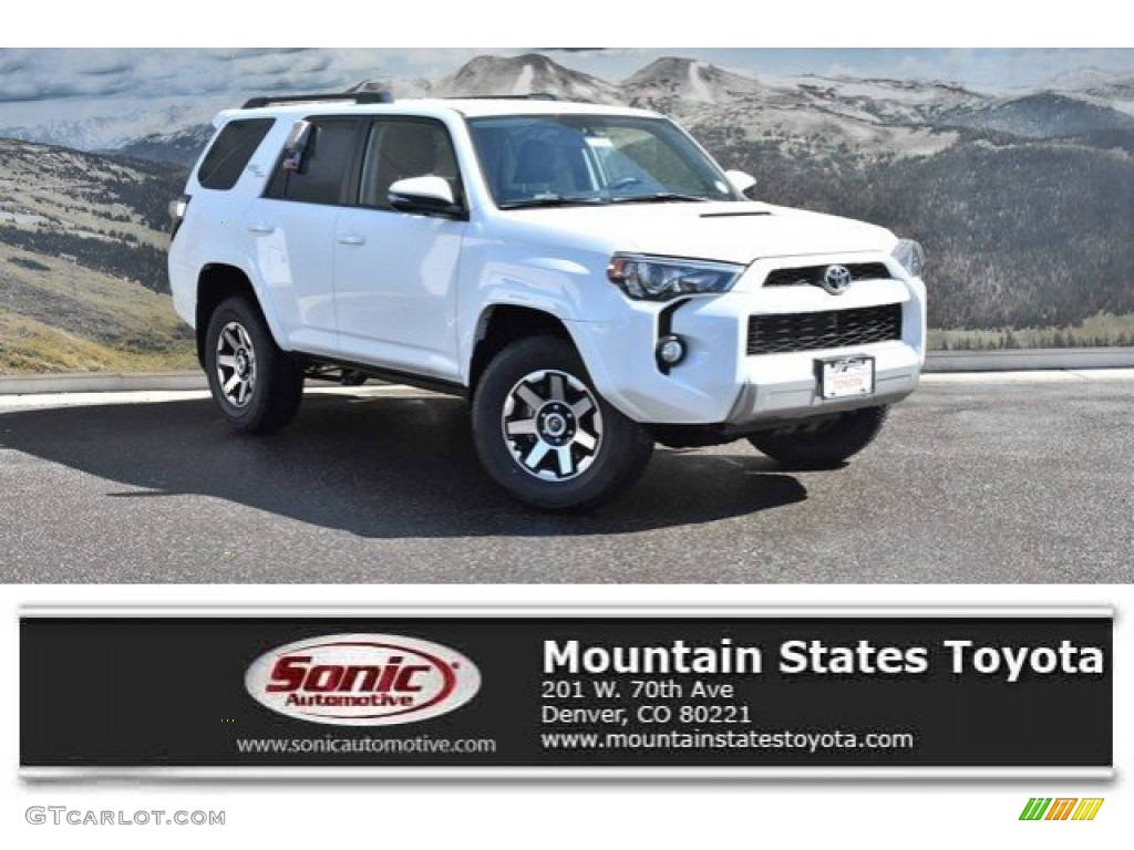 2019 Super White Toyota 4runner Trd Off Road 4x4 132245482 Gtcarlot Com Car Color Galleries