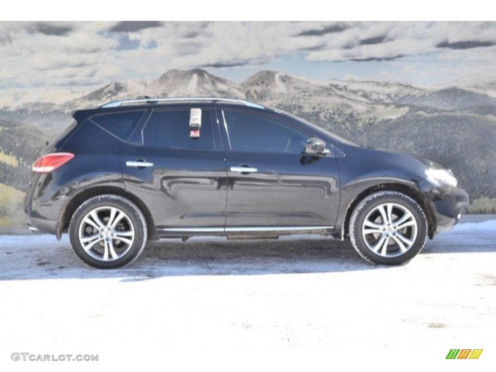 2011 Murano LE AWD - Super Black / Beige photo #2