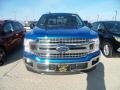 2019 Velocity Blue Ford F150 XLT SuperCab 4x4  photo #2