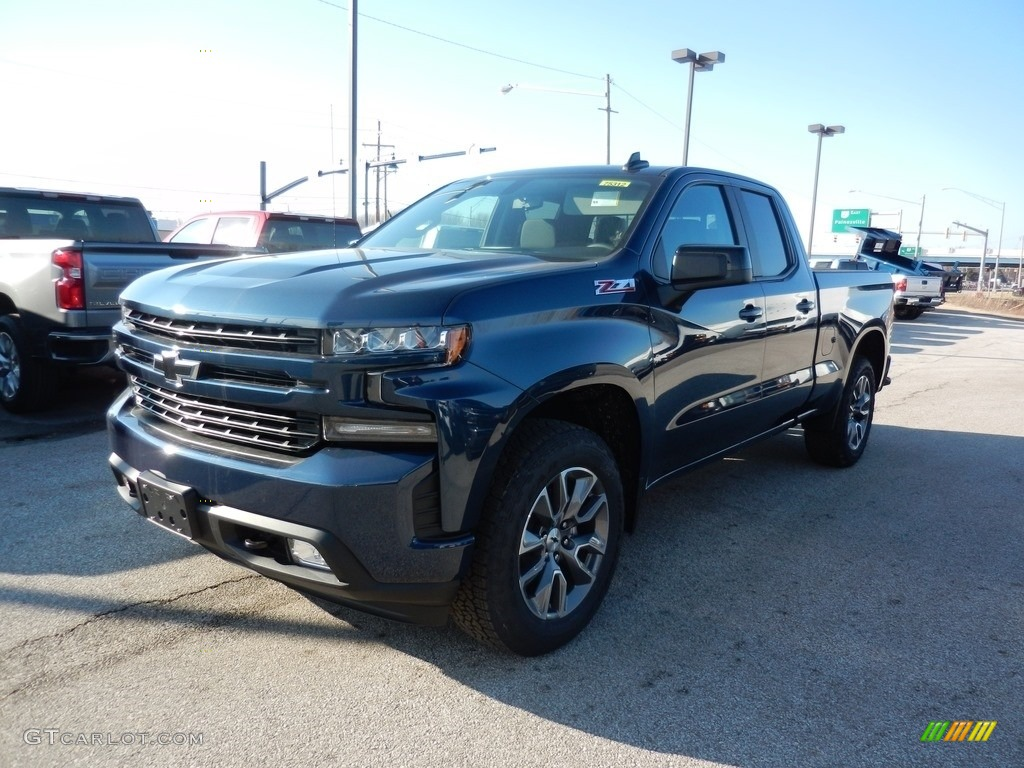 2019 Silverado 1500 RST Double Cab 4WD - Northsky Blue Metallic / Jet Black photo #1