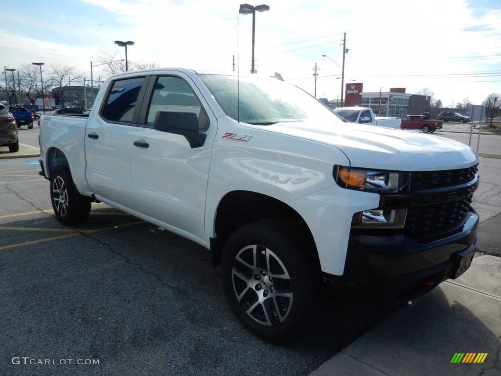 2019 Silverado 1500 Custom Z71 Trail Boss Crew Cab 4WD - Summit White / Jet Black photo #3