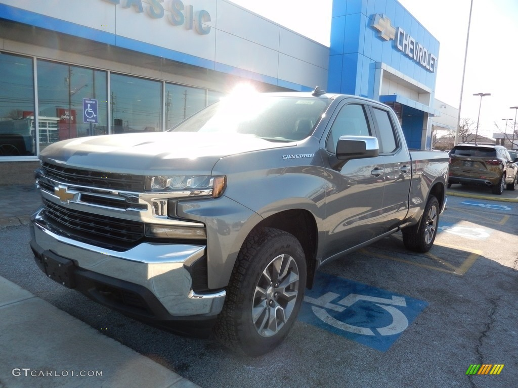 2019 Silverado 1500 LT Double Cab 4WD - Satin Steel Metallic / Jet Black photo #1