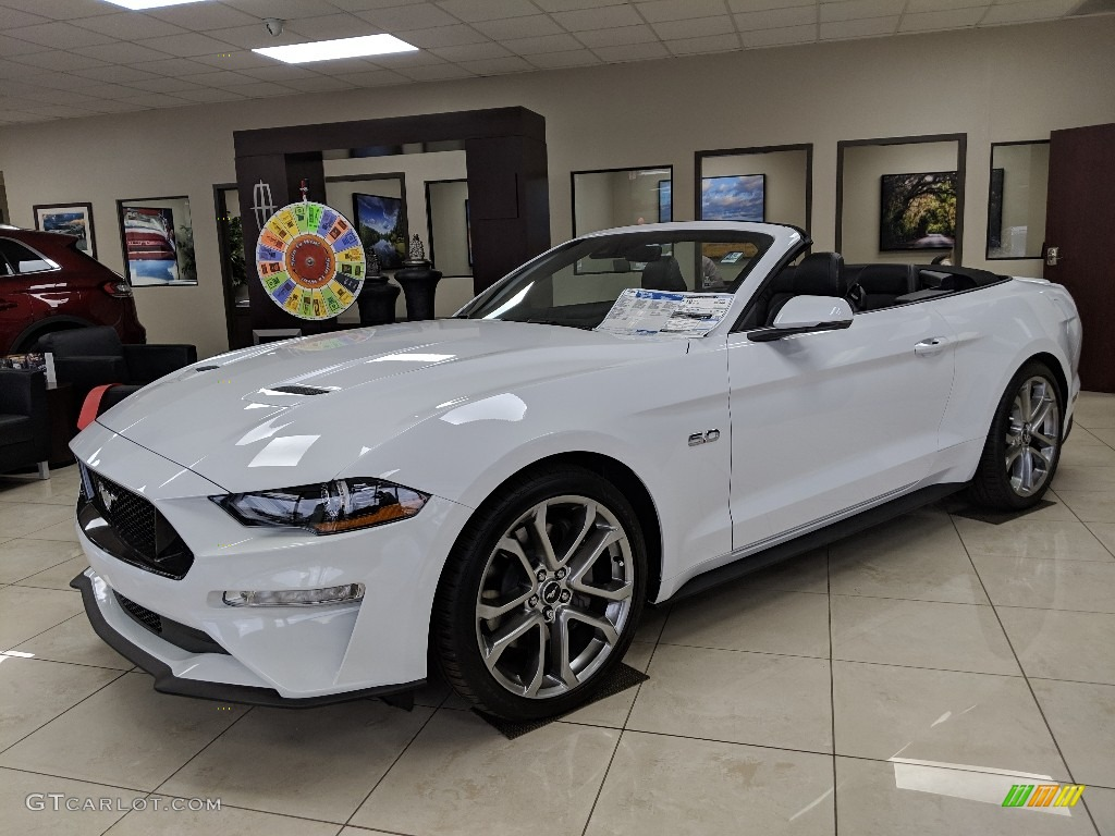 2019 Oxford White Ford Mustang Gt Premium Convertible 132318731 Gtcarlot Com Car Color Galleries