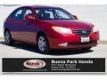 2009 Apple Red Pearl Hyundai Elantra GLS Sedan #132365555
