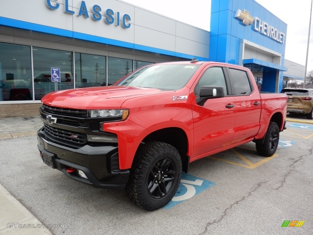 2019 Silverado 1500 LT Z71 Trail Boss Crew Cab 4WD - Red Hot / Jet Black photo #1