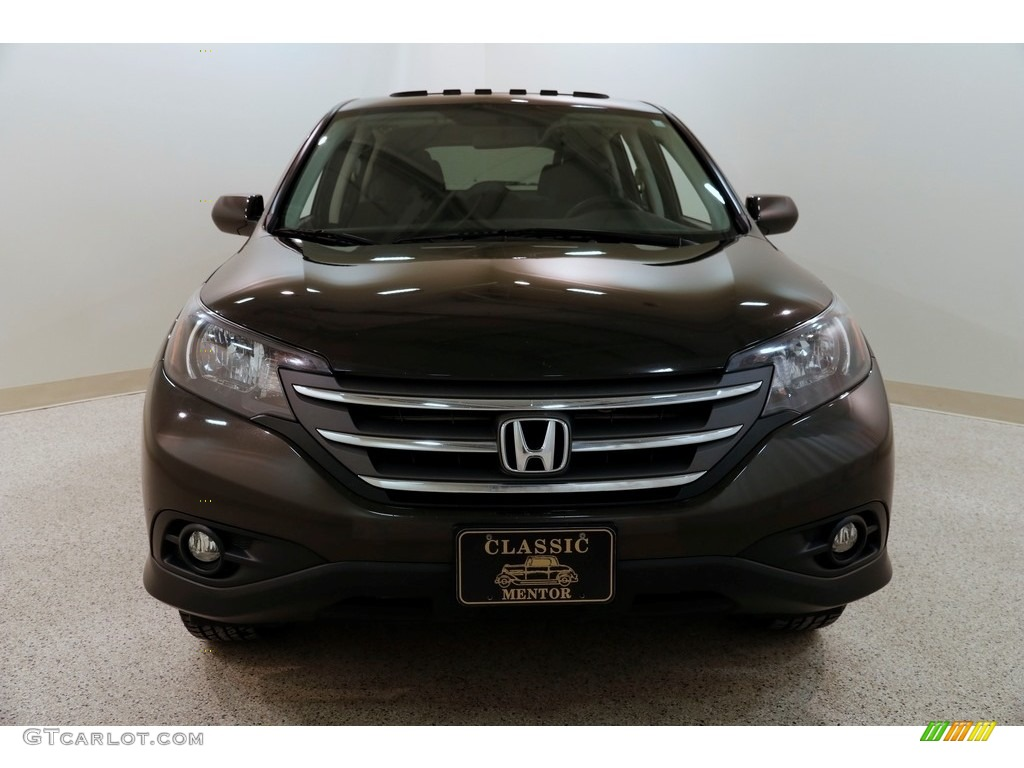 2014 CR-V EX AWD - Kona Coffee Metallic / Black photo #2
