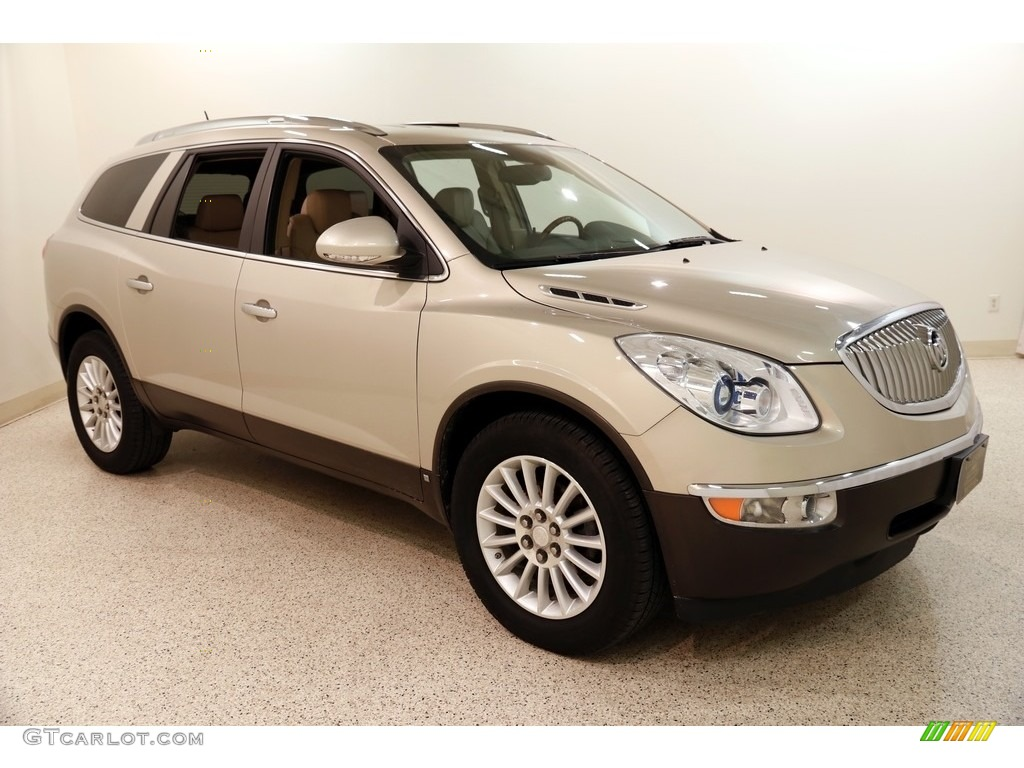 2008 Enclave CXL - Gold Mist Metallic / Cashmere/Cocoa photo #1
