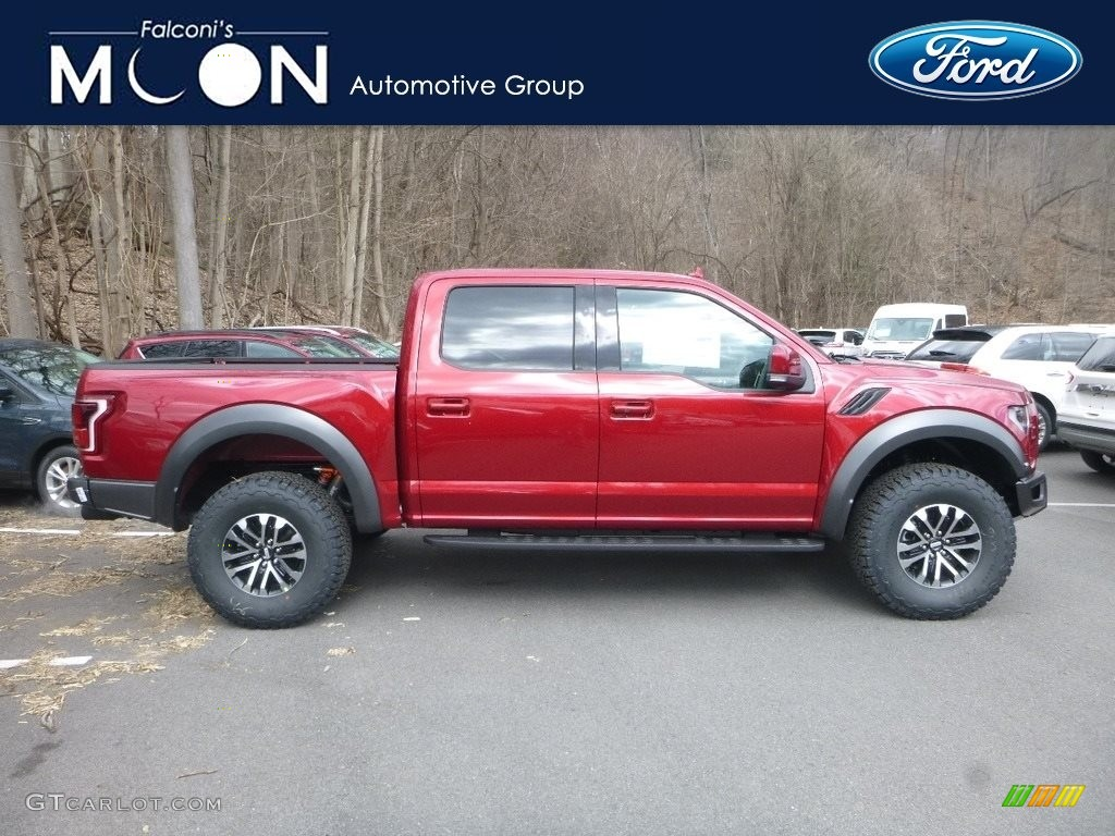 2019 F150 SVT Raptor SuperCrew 4x4 - Ruby Red / Raptor Black photo #1