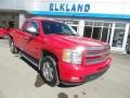 2013 Victory Red Chevrolet Silverado 1500 LTZ Extended Cab 4x4  photo #3