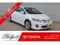Super White 2013 Toyota Corolla S