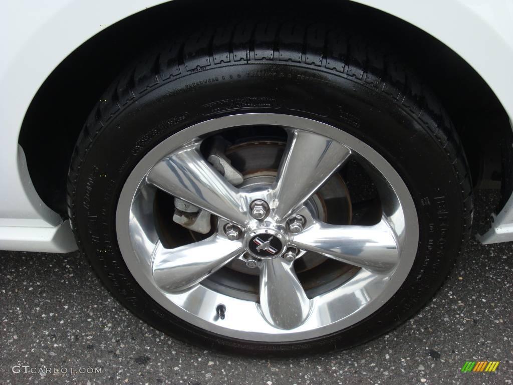 2006 Mustang GT Premium Convertible - Performance White / Red/Dark Charcoal photo #8