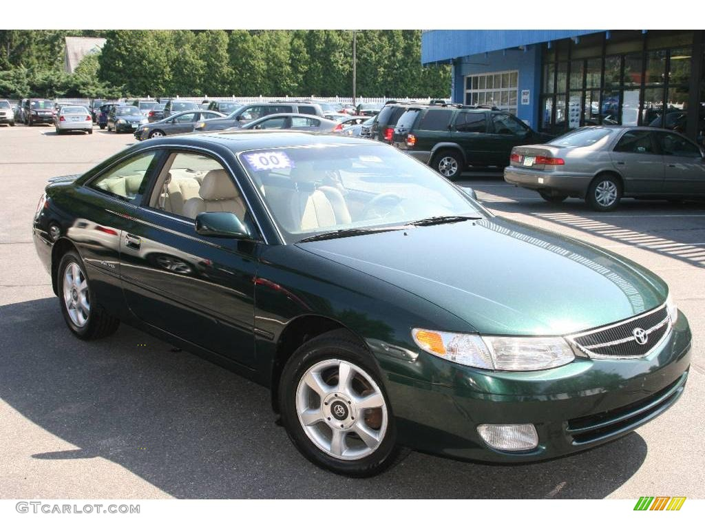 2000 fairway green pearl toyota solara se v6 coupe. Black Bedroom Furniture Sets. Home Design Ideas