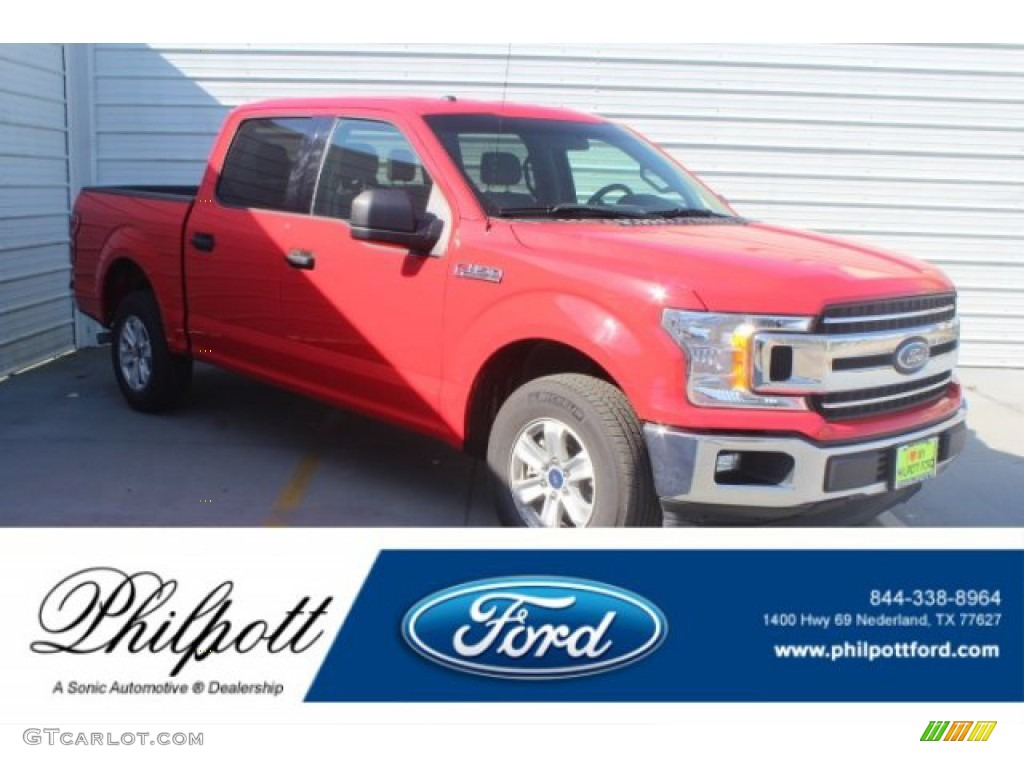 2018 F150 XLT SuperCrew - Race Red / Earth Gray photo #1