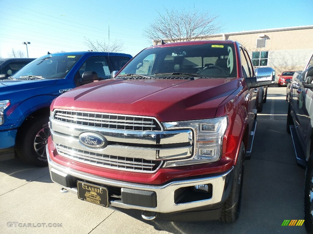 2019 F150 Lariat SuperCrew 4x4 - Ruby Red / Black photo #1