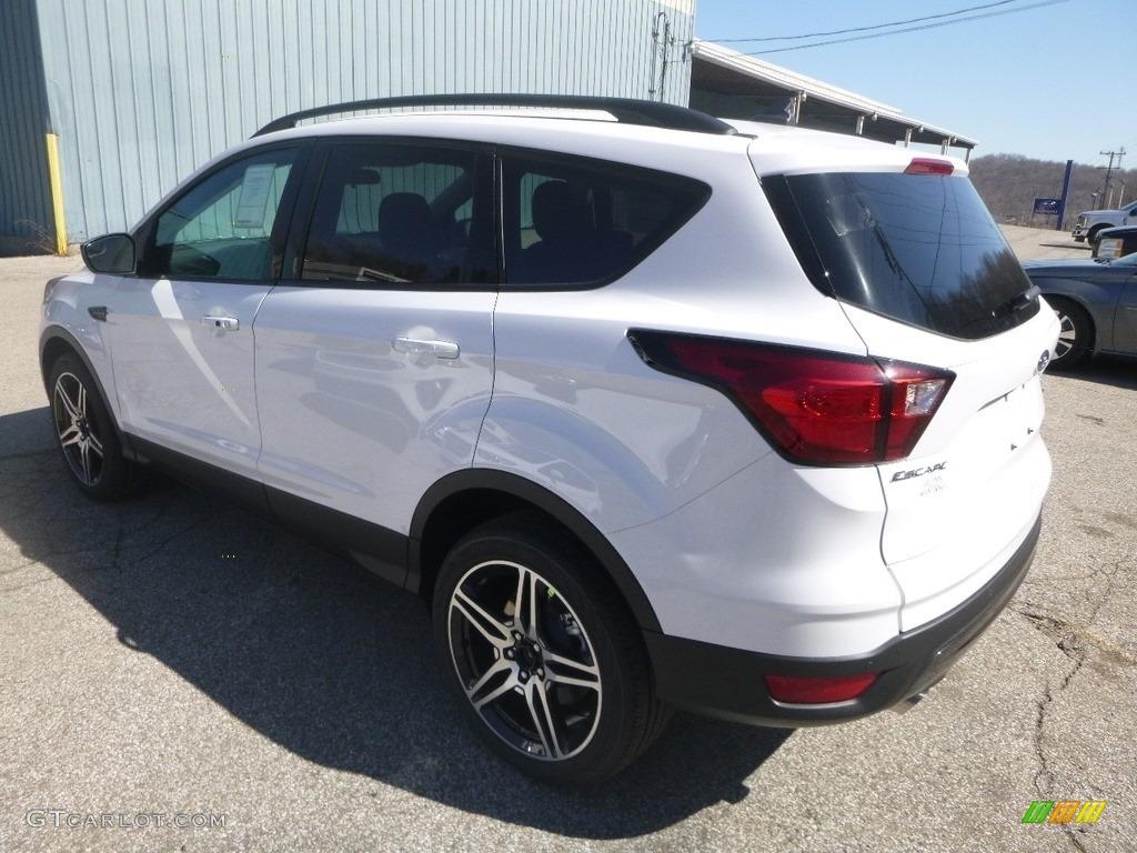 2019 Escape SEL 4WD - Oxford White / Chromite Gray/Charcoal Black photo #6