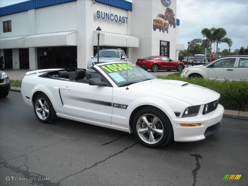 2007 Mustang GT/CS California Special Convertible - Performance White / Black/Dove Accent photo #1