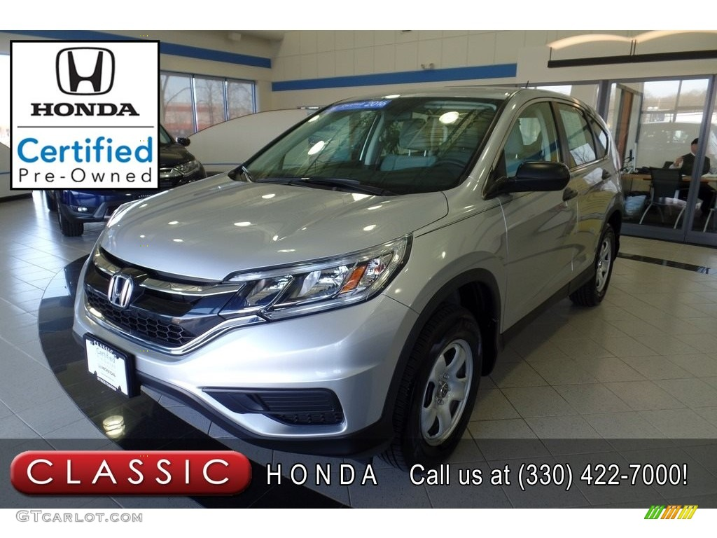 2016 CR-V LX AWD - Alabaster Silver Metallic / Black photo #1