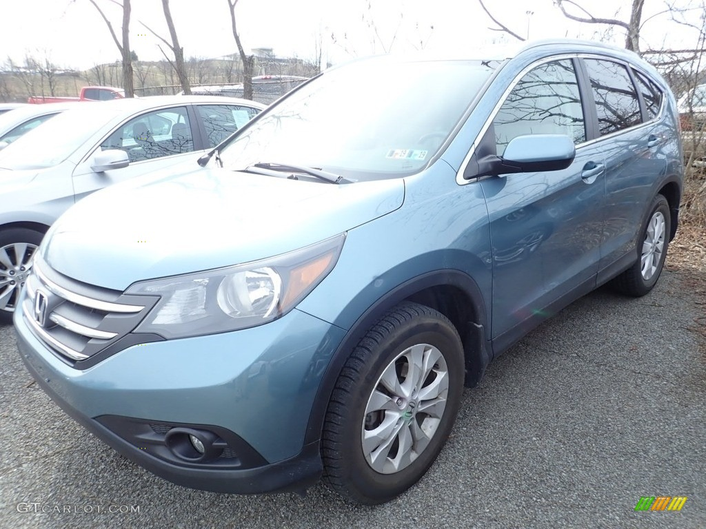 2014 CR-V EX-L AWD - Twilight Blue Metallic / Black photo #1