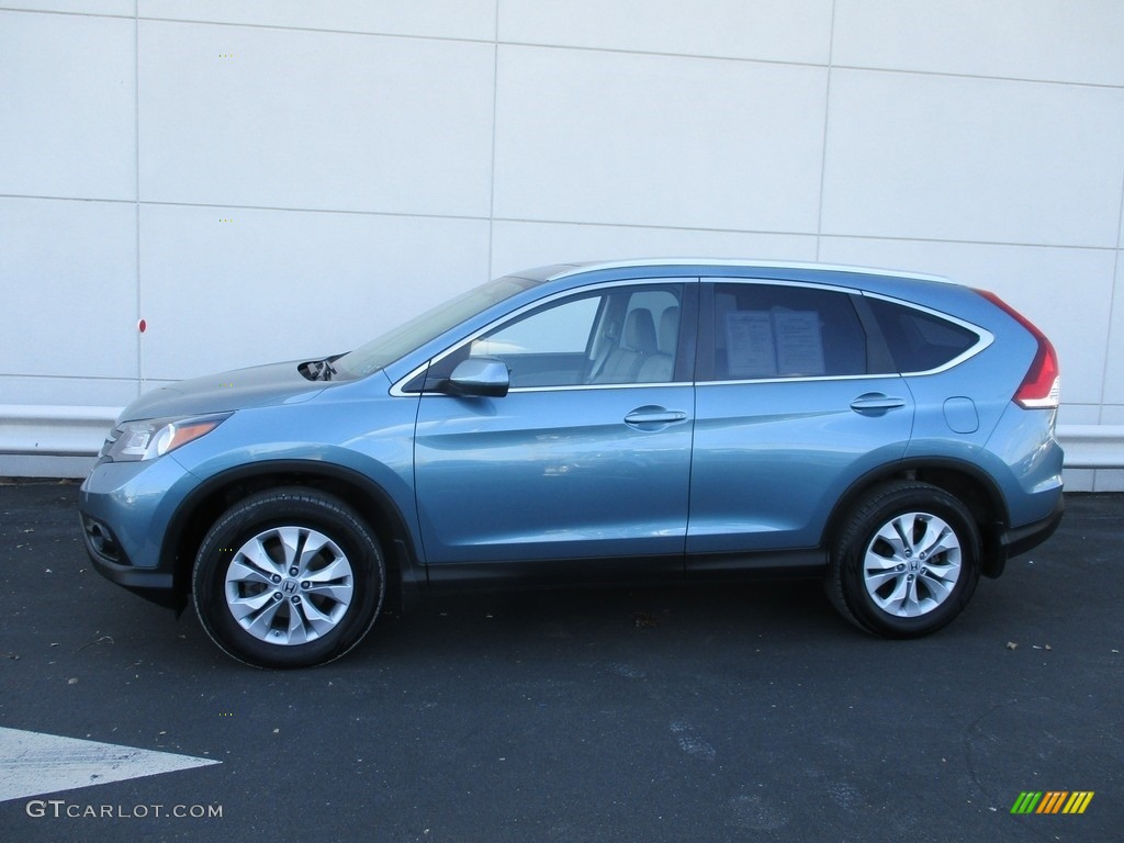 2013 CR-V EX-L AWD - Mountain Air Metallic / Gray photo #2