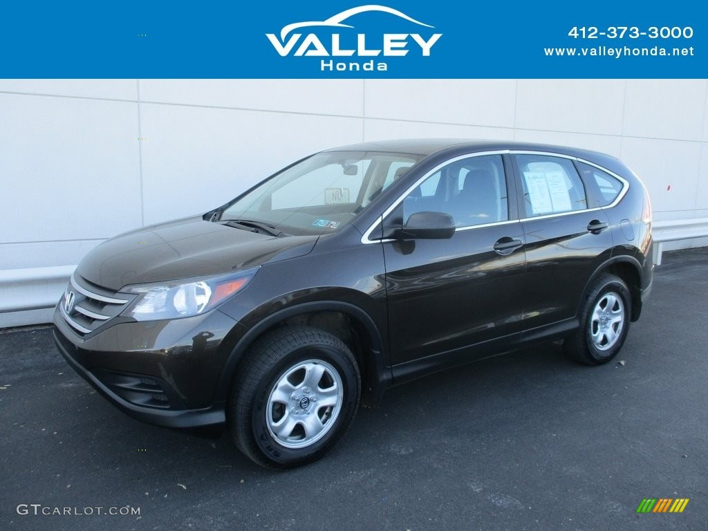 2014 CR-V LX AWD - Kona Coffee Metallic / Black photo #1