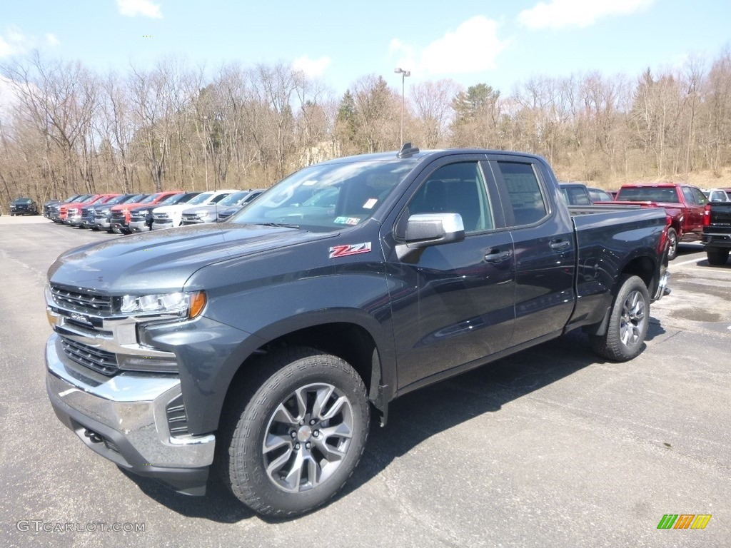 2019 Silverado 1500 LT Double Cab 4WD - Shadow Gray Metallic / Jet Black photo #1