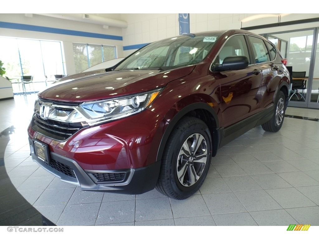 2019 CR-V LX AWD - Basque Red Pearl II / Gray photo #1