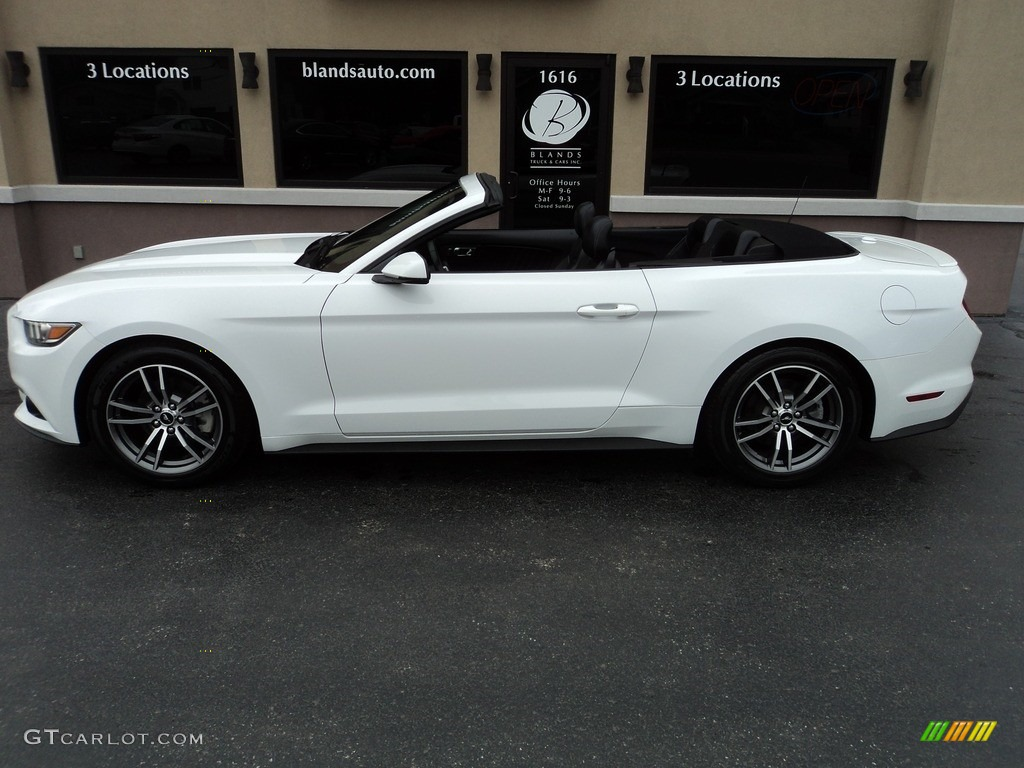 2016 Mustang EcoBoost Premium Convertible - Oxford White / Ebony photo #6