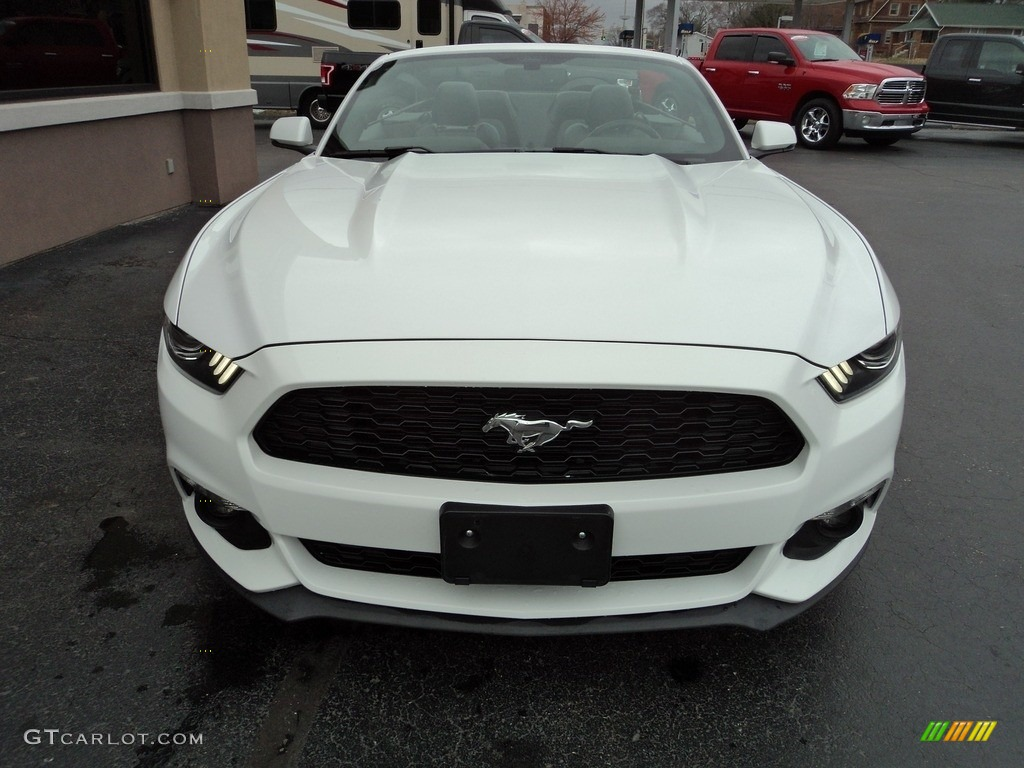 2016 Mustang EcoBoost Premium Convertible - Oxford White / Ebony photo #24