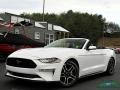 2018 Oxford White Ford Mustang EcoBoost Convertible  photo #1