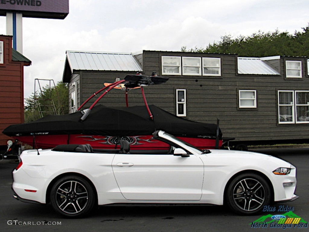 2018 Mustang EcoBoost Convertible - Oxford White / Ebony photo #6