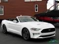 2018 Oxford White Ford Mustang EcoBoost Convertible  photo #7