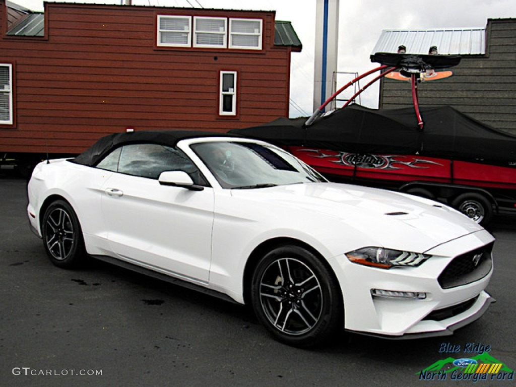 2018 Mustang EcoBoost Convertible - Oxford White / Ebony photo #9