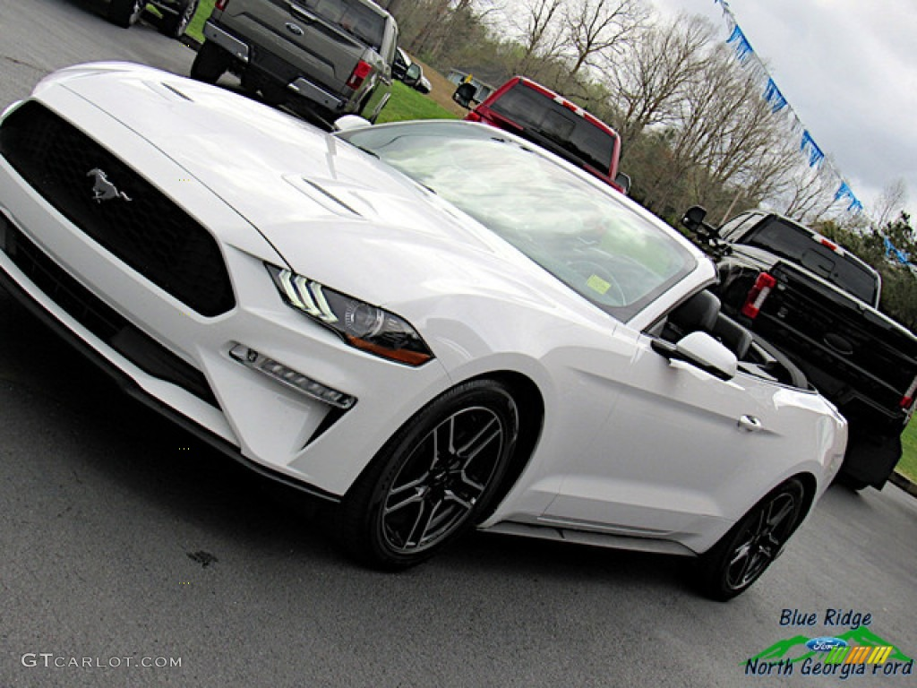 2018 Mustang EcoBoost Convertible - Oxford White / Ebony photo #20
