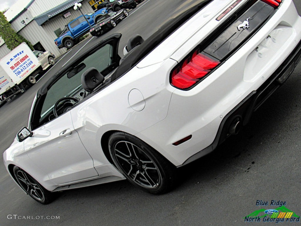 2018 Mustang EcoBoost Convertible - Oxford White / Ebony photo #23