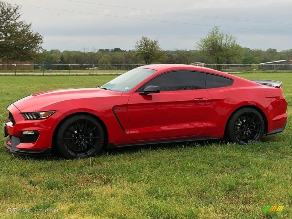 2018 Mustang Shelby GT350 - Race Red / GT350 Ebony Leather/Miko Suede photo #1