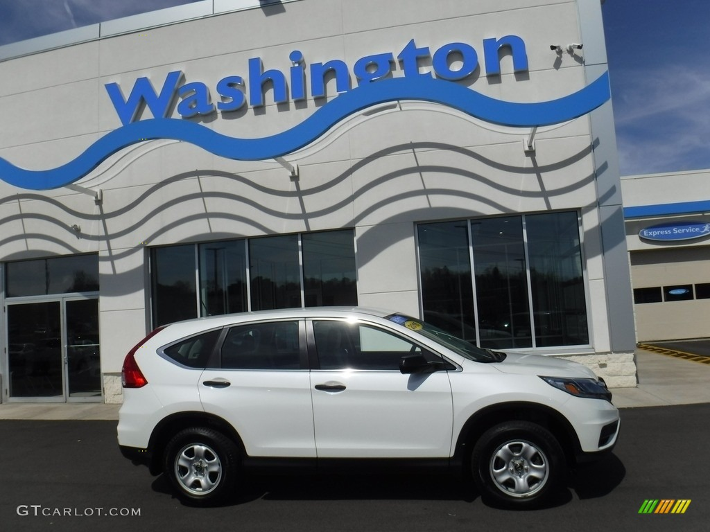 2016 CR-V LX AWD - White Diamond Pearl / Gray photo #2