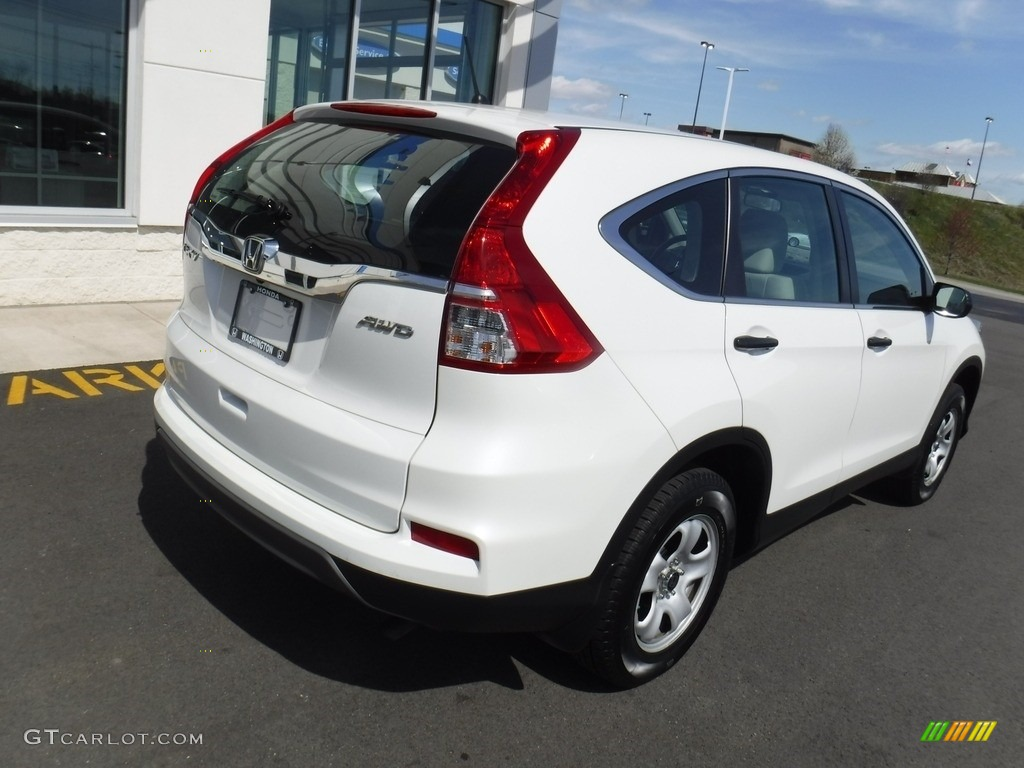 2016 CR-V LX AWD - White Diamond Pearl / Gray photo #9