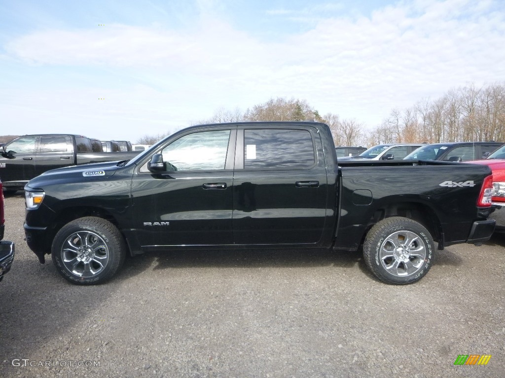 2019 1500 Big Horn Crew Cab 4x4 - Black Forest Green Pearl / Black/Light Mountain Brown photo #11