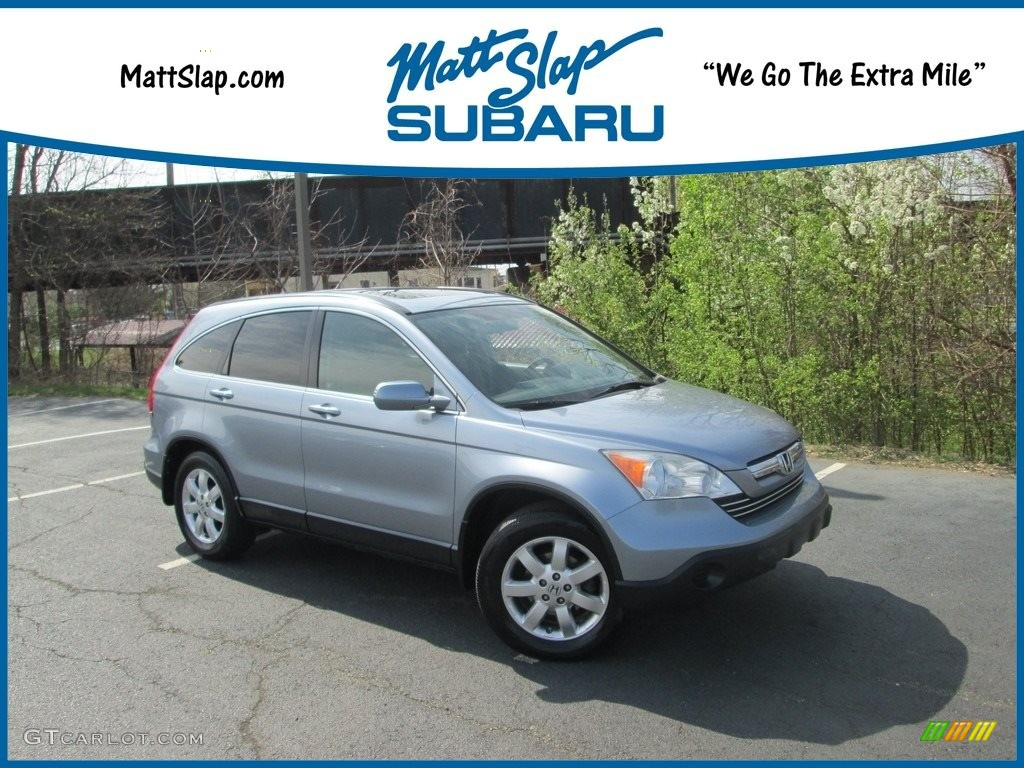 2008 CR-V EX-L 4WD - Glacier Blue Metallic / Gray photo #1