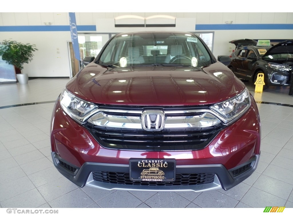 2019 CR-V LX AWD - Basque Red Pearl II / Gray photo #3