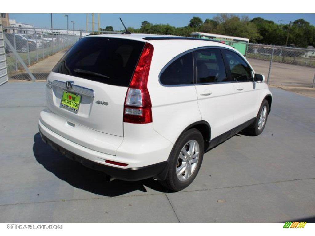 2011 CR-V EX-L 4WD - Taffeta White / Gray photo #8