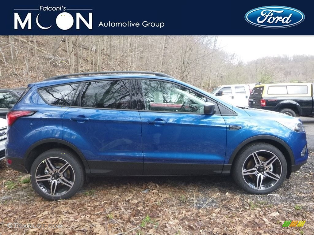 2019 Escape SEL 4WD - Lightning Blue / Chromite Gray/Charcoal Black photo #1